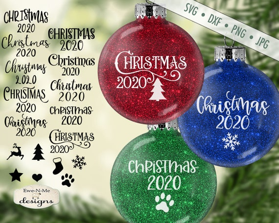 Christmas SVG - Christmas 2020 SVG - Christmas Icons svg - Holiday svg - Ornament SVG Files, Commercial Use - svg, dxf, png, jpg