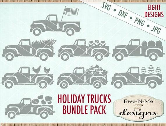 Old Truck svg bundle - truck svg - Holiday Truck svg bundle - seasonal truck svg - Truck svg all seasons - Commercial use svg dxf png jpg