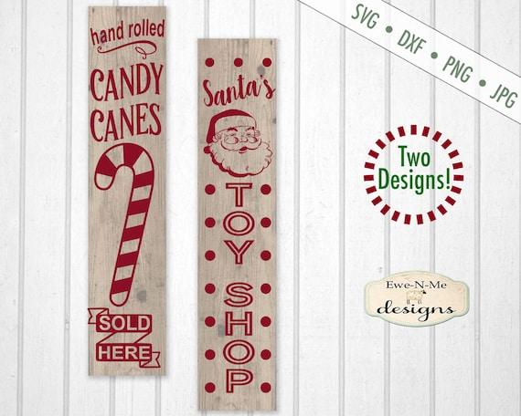 Candy Cane SVG - Santas Toy Shop SVG - Vertical SVG