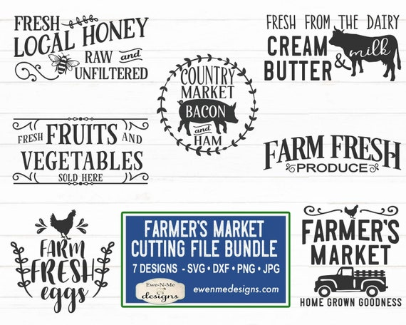 Farmers Market SVG Bundle - Farmhouse SVG