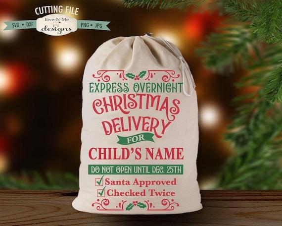 Express Christmas Delivery svg - Santa Sack SVG