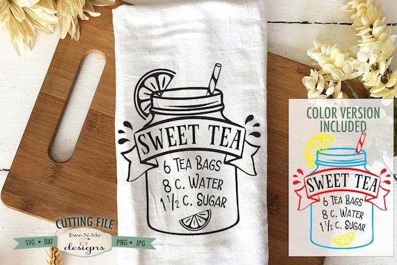 Sweet Tea Recipe SVG - Mason Jar SVG