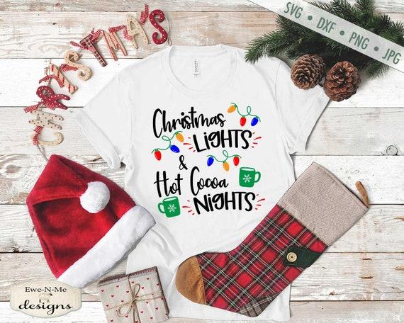 Christmas Lights Hot Cocoa Nights svg - Christmas svg