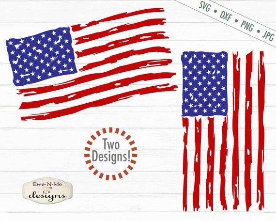 Distressed American Flag - One Nation Under God SVG