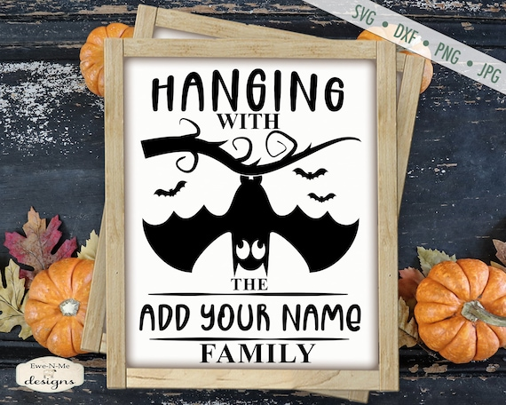 Upside Down Bat SVG - Halloween SVG