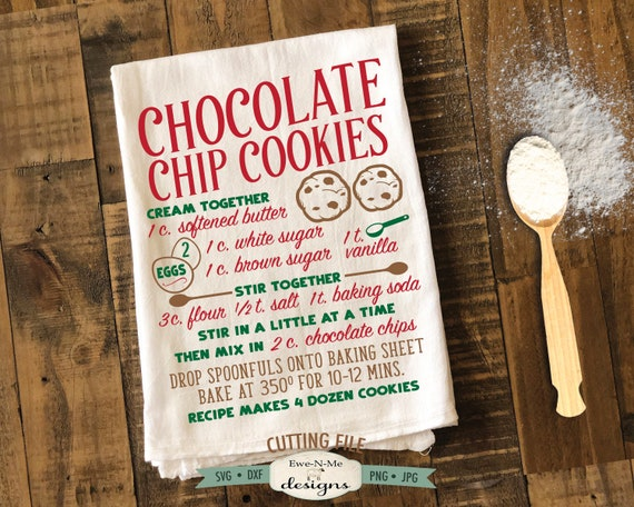 Chocolate Chip Cookie Recipe SVG