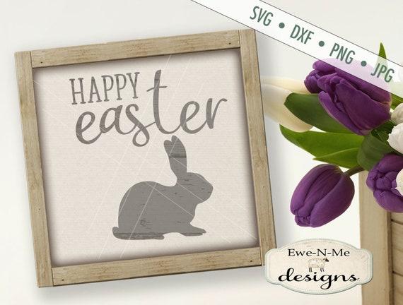 Easter SVG - Easter Bunny svg - Happy Easter SVG - bunny silhouette svg - easter rabbit svg - Commercial Use svg, dxf, png, jpg