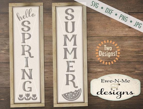 Spring svg - Summer svg - porch sign svg - hello spring svg - watermelon svg - Spring Summer SVG - Commercial use svg, dxf, png, jpg