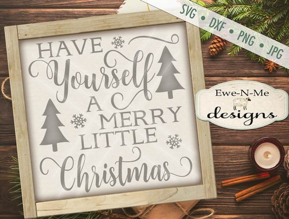Christmas SVG - Merry Little Christmas SVG - Christmas Greeting SVG - Merry Christmas svg - Commercial Use svg, dxf, png and jpg files