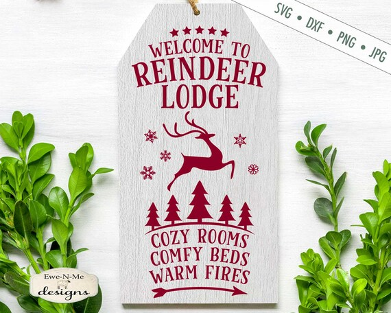 Reindeer Lodge SVG - Christmas SVG