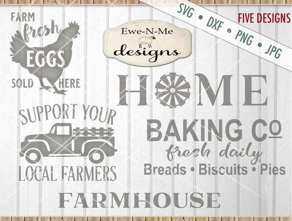 Farmhouse svg bundle - old truck svg - home svg - fresh eggs svg - Baking Co svg  - farmer svg - Commercial Use  svg, dxf, png, jpg