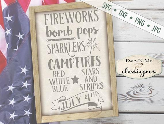 July 4th svg - 4th of July svg - patriotic svg - Fireworks SVG - Indpendence Day SVG