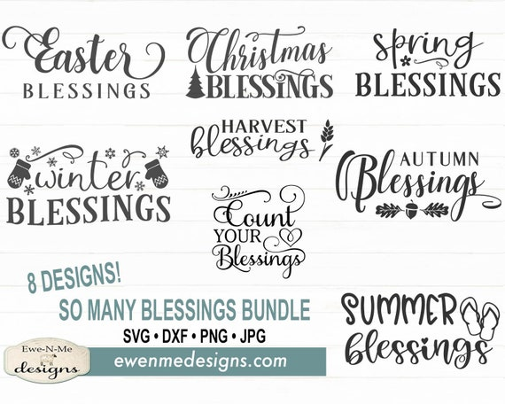 So Many Blessings SVG Bundle