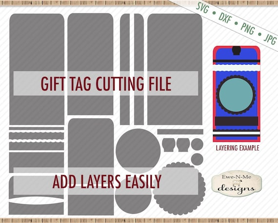 Tag Shape SVG - Tag SVG File - Gift Tag svg - Rounded Top Tag svg - Hang Tag svg - Layered Tag SVG - Commercial Use svg, dxf, png, jpg