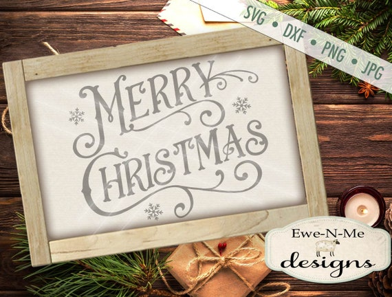 Victorian Merry Christmas svg - Christmas svg - Merry Christmas SVG, Holiday svg-  Commercial Use svg, dxf, png, jpg