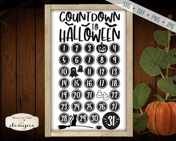 Countdown to Halloween SVG