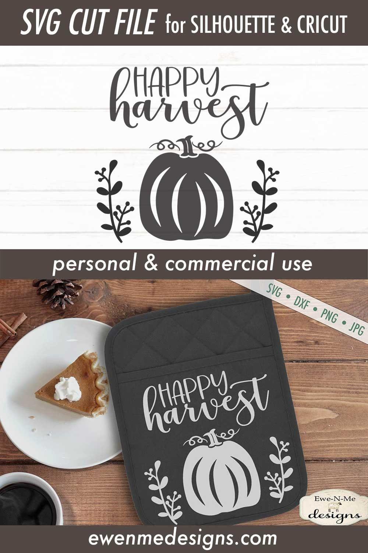 Happy Harvest Pumpkin Commercial Use Svg Dxf Png Jpg