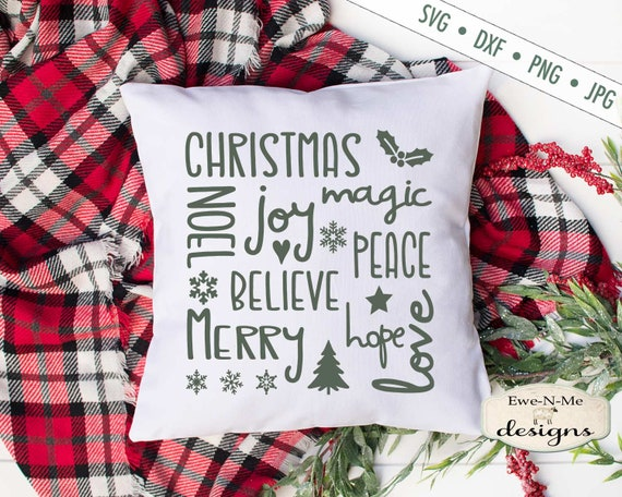 Christmas SVG - Christmas Subway Art SVG - Joy SVG - peace svg - noel svg - Commercial Use - svg, dxf, png, jpg
