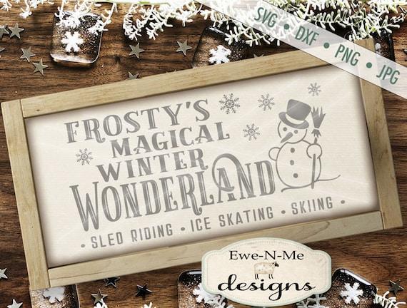 Frosty svg - Horizontal svg - Snowman svg - Frosty's Winter Wonderland - Snowflake svg - Christmas SVG - Commercial Use svg, dxf, png, jpg