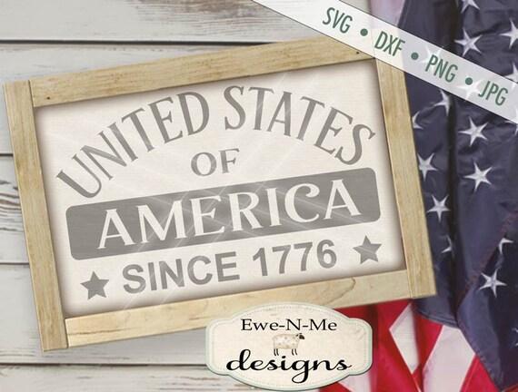 Patriotic svg - July 4th SVG - United States svg - God Bless America svg - America svg - Commercial Use svg, dxf, png, jpg