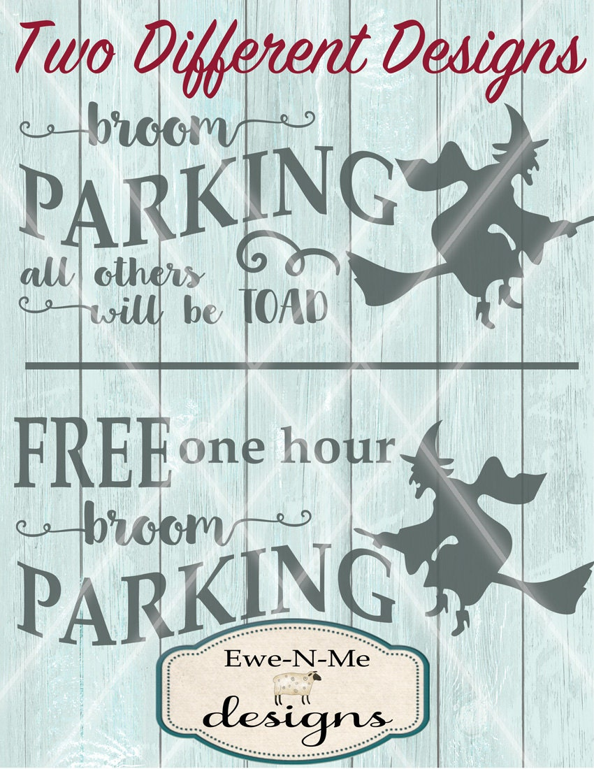 Halloween Svg Witch Svg Broom Parking Svg Witch On Broom Svg Svg Bundle Free Broom Parking Commercial Use Svg Dxf Png And Jpg