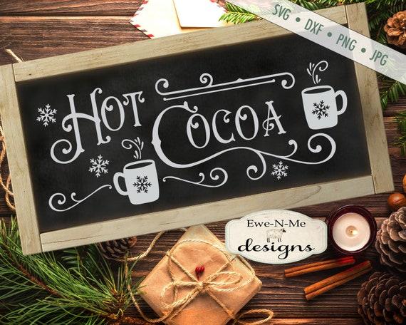 Hot Cocoa svg - Cocoa svg - Holiday svg - Winter SVG - Christmas svg - Snowflake SVG - Mug svg - Commercial Use svg, dxf, png, jpg