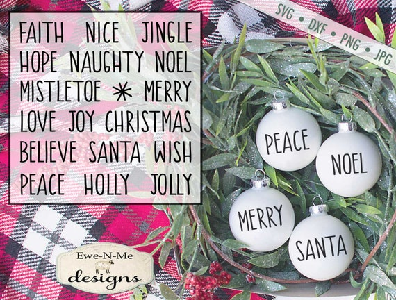 Christmas SVG File - Christmas Words svg Bundle - Rae Dunn Inspired Words SVG
