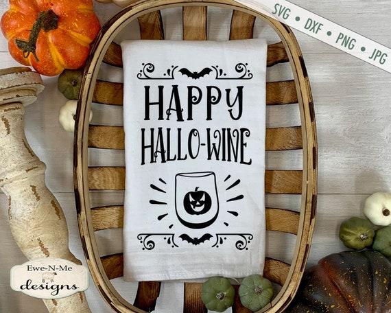 Happy Hallo-Wine SVG - Halloween SVG - Wine SVG