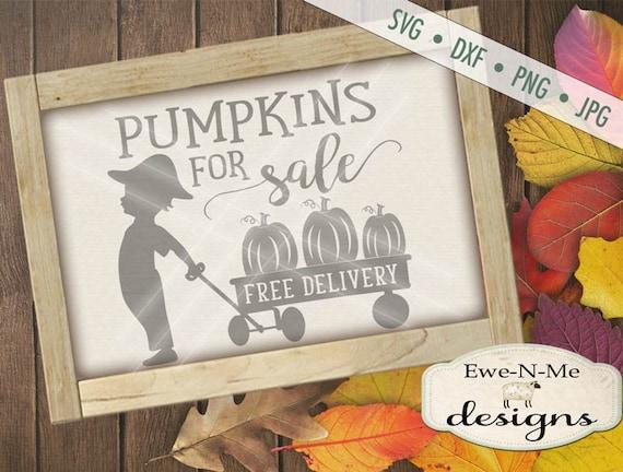 Pumpkin SVG  - Pumpkins For Sale svg - autumn svg  - Fall SVG - wagon SVG - pumpkin wagon svg - Commercial Use svg, dxf, png, jpg