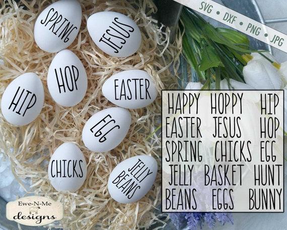 Easter SVG - Easter Words svg Bundle - Rae Dunn Inspired Words SVG