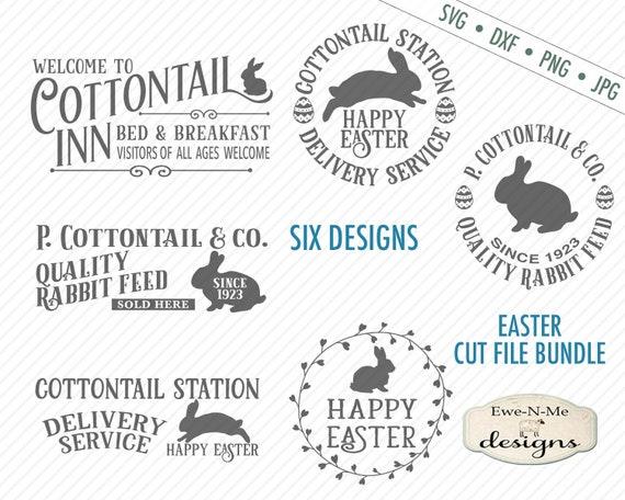 Easter SVG Bundle - Cottontail SVG Bundle - Easter Bunny svg - Vintage Easter svg