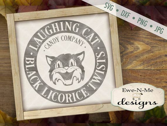 Halloween SVG - Black Cat SVG - Fall SVG - Autumn svg - Candy svg - Licorice svg - Trick or Treat svg - Commercial Use svg, dxf, png, jpg