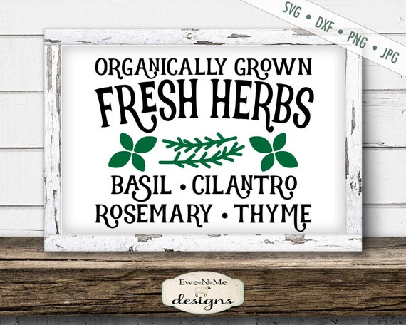 Fresh Herbs - Garden SVG