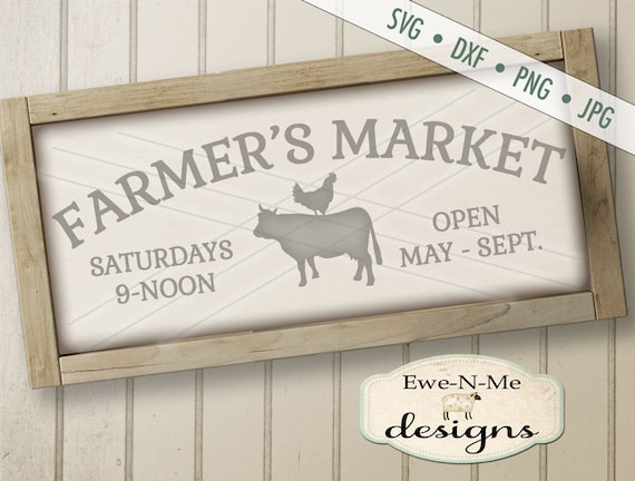 Farmers Market svg - cow svg - chicken SVG -  farmhouse SVG - stacked animals svg