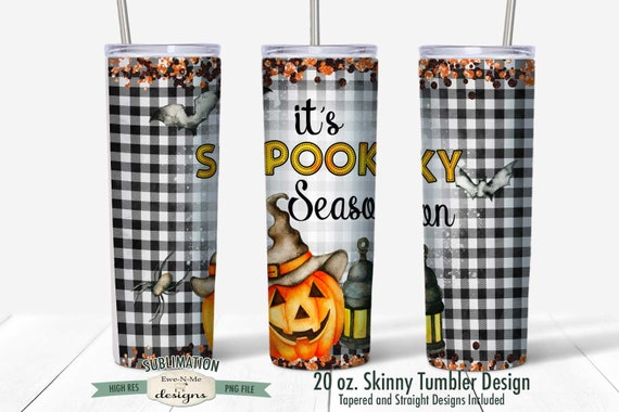 Spooky Season Sublimation Design - Halloween Jack O Lantern  - Sublimation for  20 oz. Tumbler Straight and Tapered