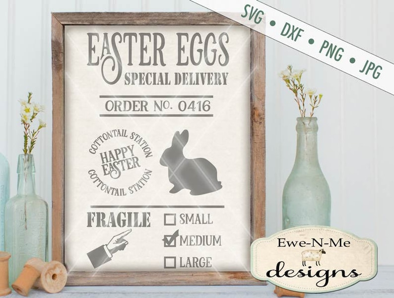 Easter Egg SVG  Easter Bunny svg  Easter SVG  Egg Delivery image 0