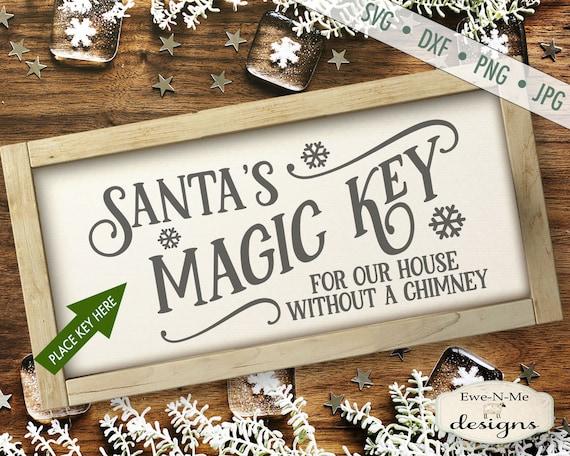 Magic Key SVG - Santa svg - Christmas svg - Santa Magic Key - magic key sign svg - Santas Key Sign svg - Commercial Use svg, dxf, png, jpg