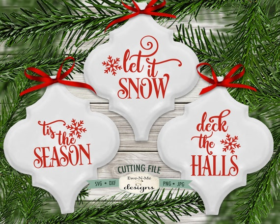 Tis The Season svg - Let It Snow  svg - Deck The Halls SVG - Commercial use svg bundle