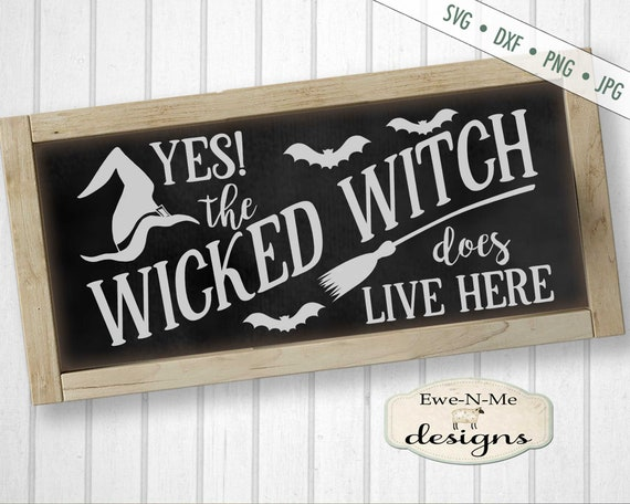 Halloween SVG - Witch SVG - Witch Hat svg - Witch Broom SVG - wicked witch svg - bats svg - Commercial Use svg, dxf, png, jpg