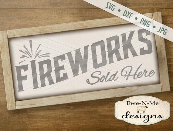 Fireworks SVG - July 4th svg - 4th of July svg - patriotic svg - Indpendence Day svg  - Commercial Use svg, dxf, png, jpg