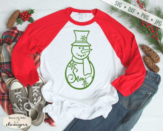 Snow svg - Snowman svg - Christmas svg - Snowflake svg - Commercial Use svg, dxf, png, jpg