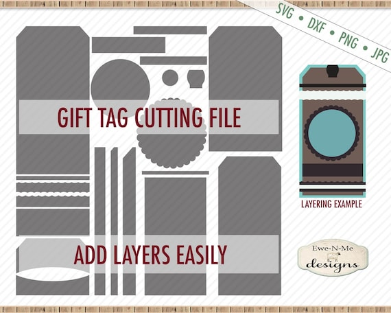 Tag Shape SVG - Tag SVG File - Gift Tag svg - Hang Tag svg - Layered Tag SVG