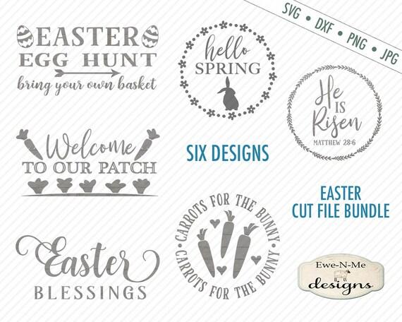 Easter SVG Bundle - Spring SVG Bundle - carrot SVG - Blessings svg- Hello Spring svg - egg hunt svg