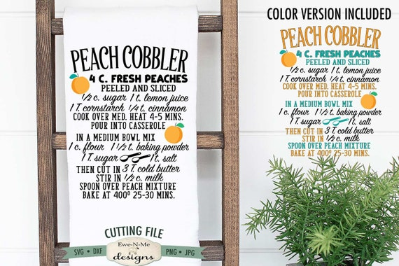 Peach Cobbler Recipe SVG