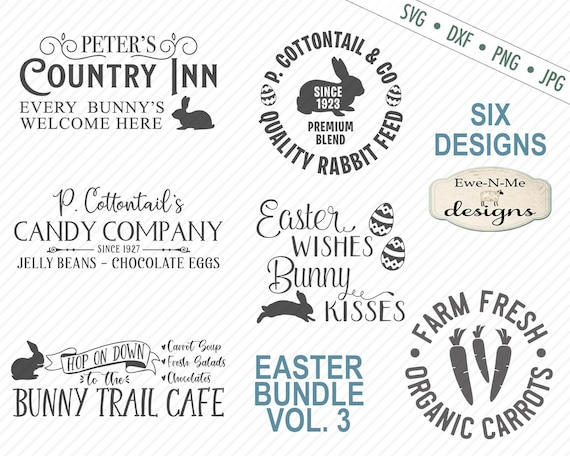 Easter SVG Bundle - Bunny SVG Bundle - Easter Bunny svg - Farmhouse Easter svg