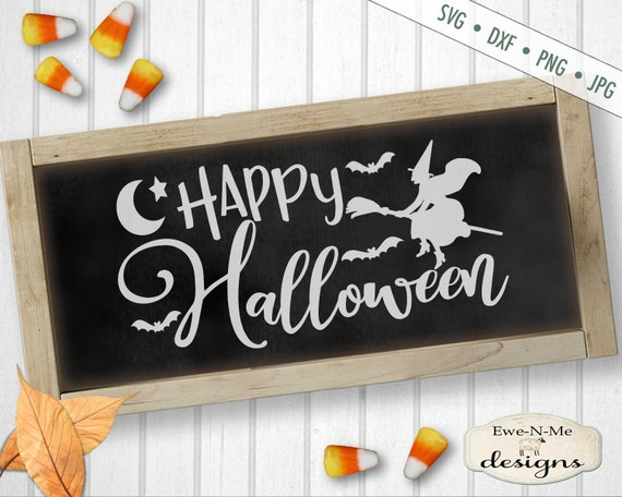 Halloween SVG - Witch SVG - Flying Witch svg - Witch Broom SVG - Happy Halloween svg - Commercial Use svg, dxf, png, jpg