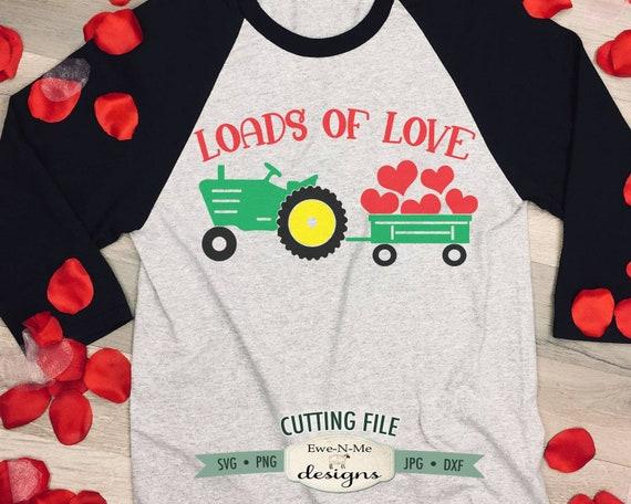 Valentine Tractor SVG - Loads of Love SVG