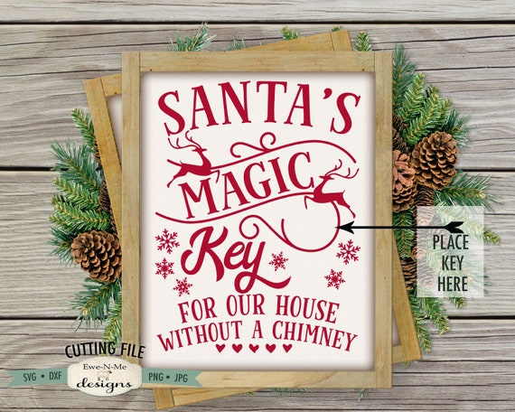 Santa Magic Key SVG - Christmas SVG - Reindeer SVG