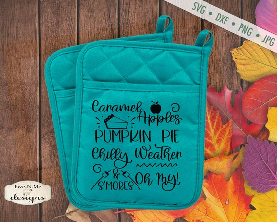Caramel Apple Pumpkin Pie Chilly Weather & Smores Oh My  SVG - Commercial Use svg, dxf, png, jpg