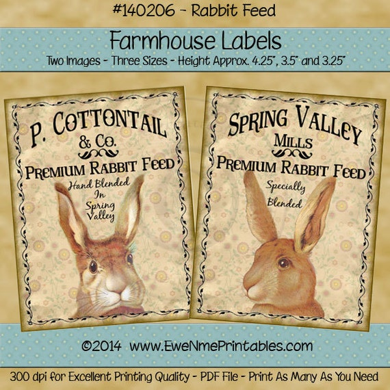 Easter Printable Farmhouse Style Labels - Easter Tags - Easter Labels - Easter Crate Labels  - Commercial Use Printable PDF or JPG File